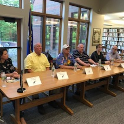 fICTION AUTHOR PANEL,, Avon public library